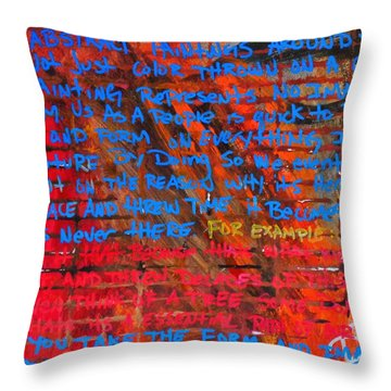 The Idea 2 Throw Pillow
