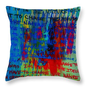 The Idea Throw Pillow