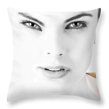 The Illusion Of Perfection Throw Pillow