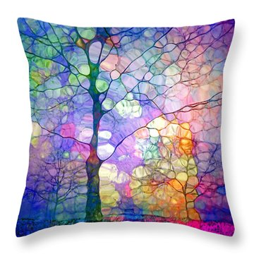 The Imagination Of Trees Throw Pillow by Tara Turner