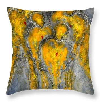 The Immortal Guardians Of Mortals Throw Pillow
