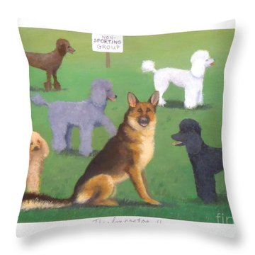 The Impostor II Throw Pillow