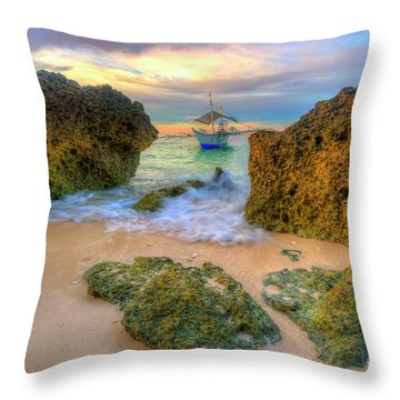 Throw Pillow featuring the photograph The Inbetweener by Yhun Suarez