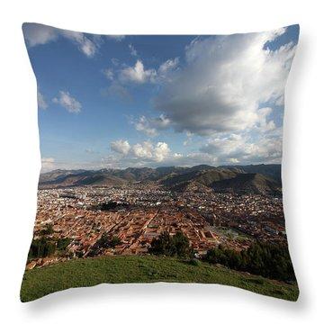 The Inca Capital Of Cusco Throw Pillow by Aidan Moran