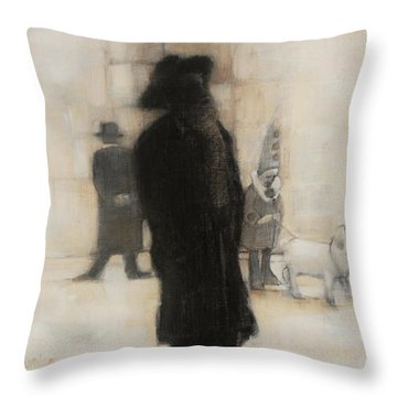 The Incongruity Of It All  Throw Pillow by Jean Cormier