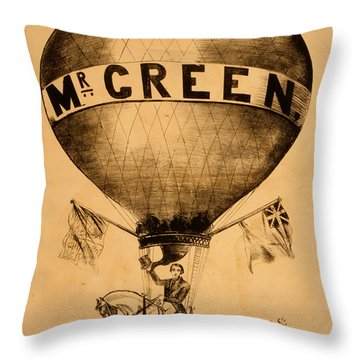 The Incredible Mr. Green Throw Pillow