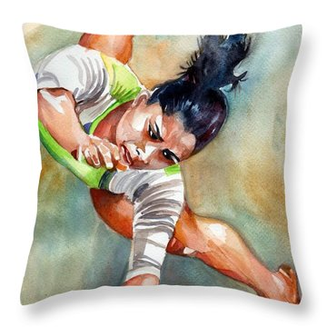 The Indian Gymnast Throw Pillow