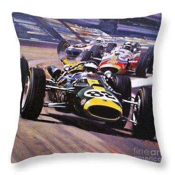 The Indianapolis 500 Throw Pillow