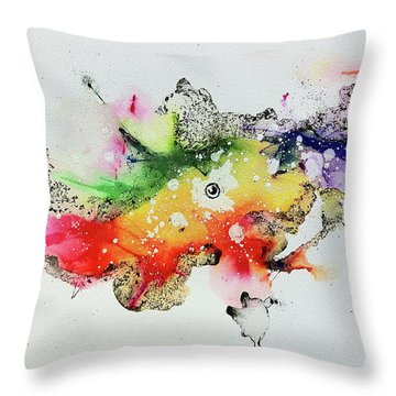 The Inexplicable Ignition Of Time Expanding Into Free Space Phase Two Number 30 Throw Pillow
