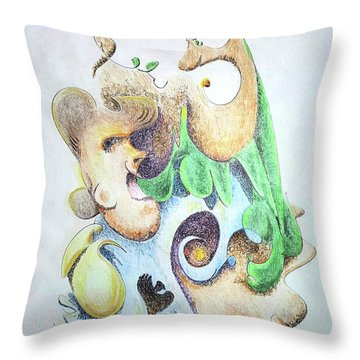 The Infection Throw Pillow