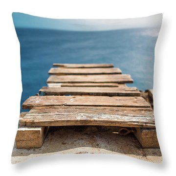 The Infinite Blue Throw Pillow