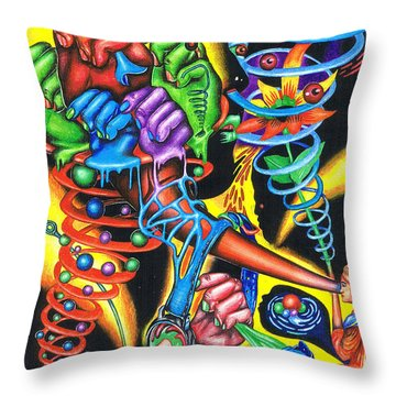 The Infinite Expansion Of A Cosmic Revelation Throw Pillow
