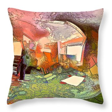 Space Geometry #14 Or The Inner Content Throw Pillow