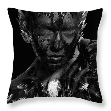 The Inner Demons Coming Out Throw Pillow