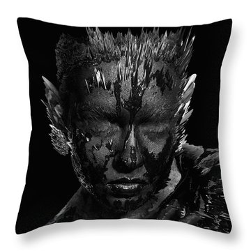 Throw Pillow featuring the digital art The Inner Demons Coming Out by ISAW Company