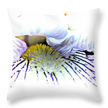 The Inner Iris Throw Pillow