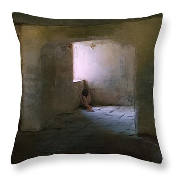 The Inner Place Throw Pillow by Ron Jones