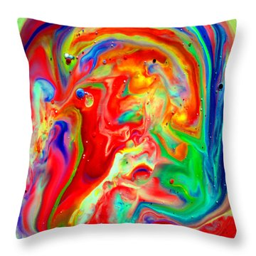 Throw Pillow featuring the painting The Inner Sanctum by Joyce Dickens