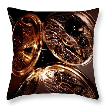 The Inner Working Of Clock Throw Pillow