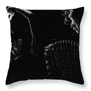 The Intensity Of Flamenco Throw Pillow by Richard Young