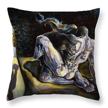 The Internal Affair Throw Pillow by Darwin Leon