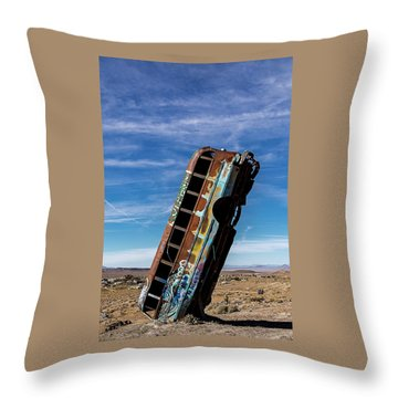 Throw Pillow featuring the photograph The International Car Forest Of The Last Church 2 by James Sage