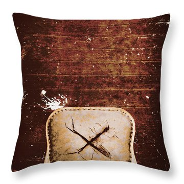 The Interrogation Room Throw Pillow