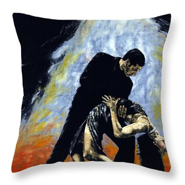 The Intoxication Of Tango Throw Pillow by Richard Young
