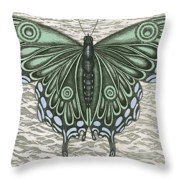The Intro-spector Throw Pillow by Charles Harden