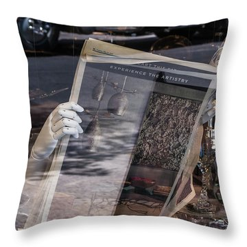 The Invisible Face Throw Pillow