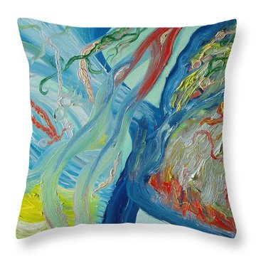 The Invisible World Throw Pillow