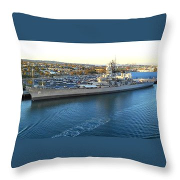 Throw Pillow featuring the photograph The Iowa At Sunset by Joe Kozlowski