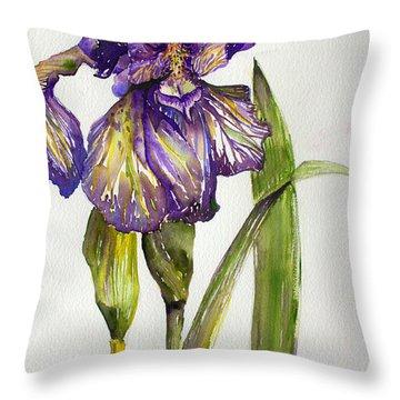 The Iris Throw Pillow