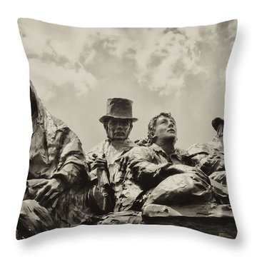 The Irish Emigration Throw Pillow by Bill Cannon