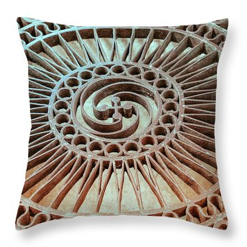 The Iron Lattice Throw Pillow