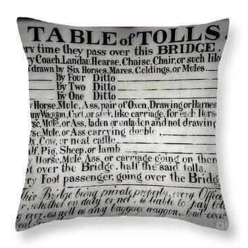 The Ironbridge Tolls Throw Pillow