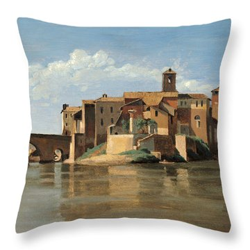 The Island And Bridge Of San Bartolomeo Throw Pillow