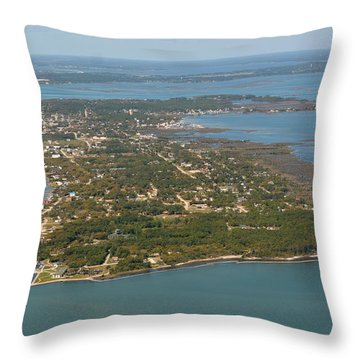 The Island Throw Pillow by Dan Williams