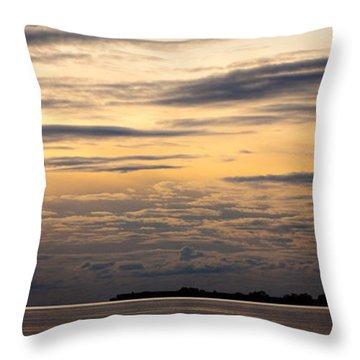 The Island Throw Pillow by Konstantin Dikovsky