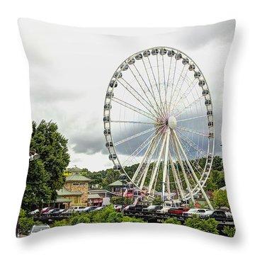 The Island Smoky Mountain Wheel Throw Pillow