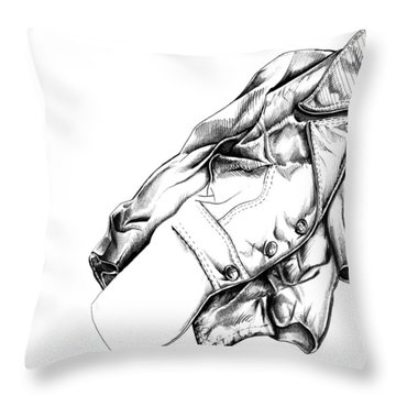 The Jacket Throw Pillow by Keith A Link