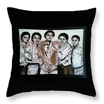 The Jacksons Five  Throw Pillow