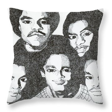 The Jacksons Tribute Throw Pillow