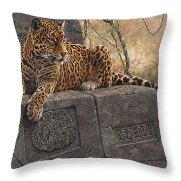 The Jaguar King Throw Pillow