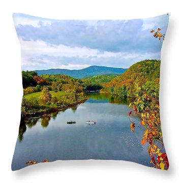 The James River Early Fall Throw Pillow