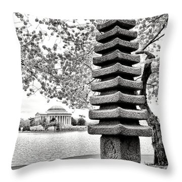 The Japanese Pagoda Throw Pillow