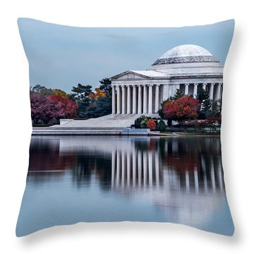 The Jefferson In Baby Blue Throw Pillow by Ed Clark