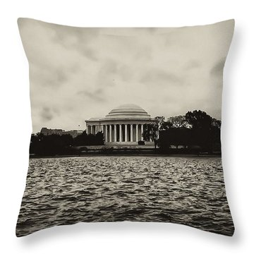 The Jefferson Memorial Throw Pillow by Bill Cannon