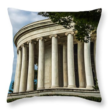 The Jefferson Memorial Throw Pillow