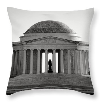 The Jefferson Memorial  Throw Pillow by Olivier Le Queinec